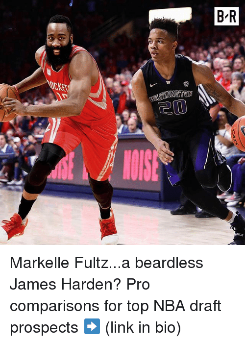 James Harden, Nba, and Sports: KET  R  B Markelle Fultz...a beardless James Harden? Pro comparisons for top NBA draft prospects ➡️ (link in bio)
