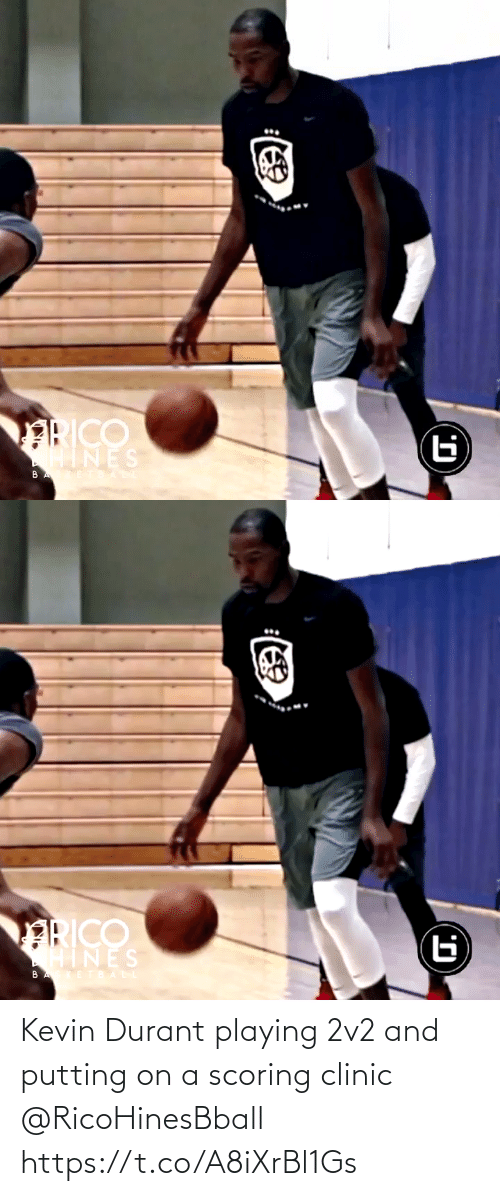Clinic: Kevin Durant playing 2v2 and putting on a scoring clinic @RicoHinesBball https://t.co/A8iXrBl1Gs