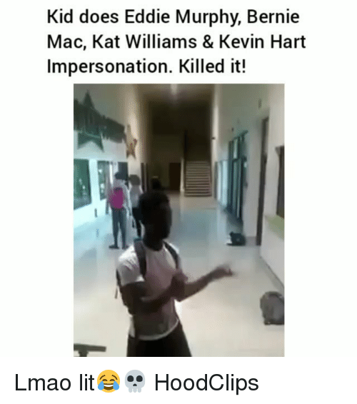 Eddie Murphy, Funny, and Kevin Hart: Kid does Eddie Murphy, Bernie  Mac, Kat Williams & Kevin Hart  Impersonation. Killed it! Lmao lit😂💀 HoodClips