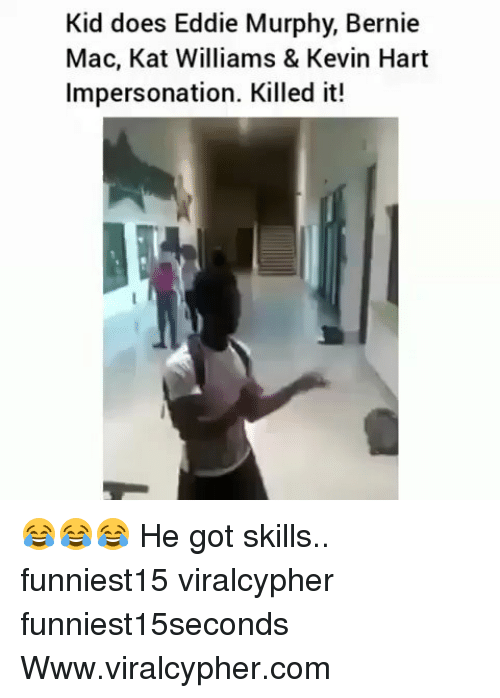 Eddie Murphy, Funny, and Kevin Hart: Kid does Eddie Murphy, Bernie  Mac, Kat Williams & Kevin Hart  Impersonation. Killed it! 😂😂😂 He got skills.. funniest15 viralcypher funniest15seconds Www.viralcypher.com