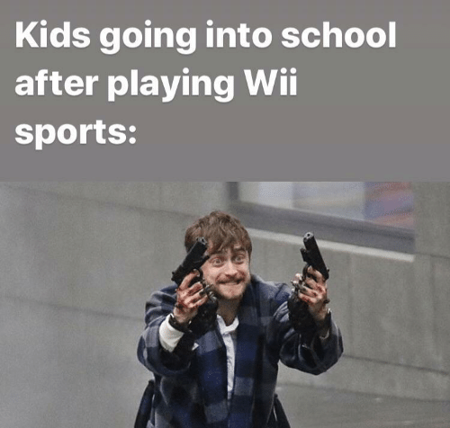 wii: Kids going into school  after playing Wii  sports: