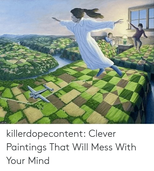 Brain: killerdopecontent:    Clever Paintings That Will Mess With Your Mind