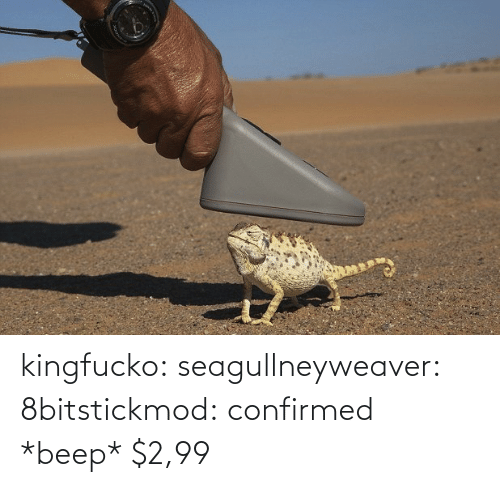 Confirmed: kingfucko:  seagullneyweaver:  8bitstickmod: confirmed  *beep* $2,99