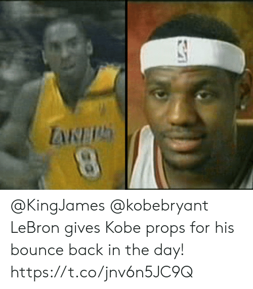 Memes, Kobe, and Lebron: @KingJames @kobebryant LeBron gives Kobe props for his bounce back in the day!    https://t.co/jnv6n5JC9Q