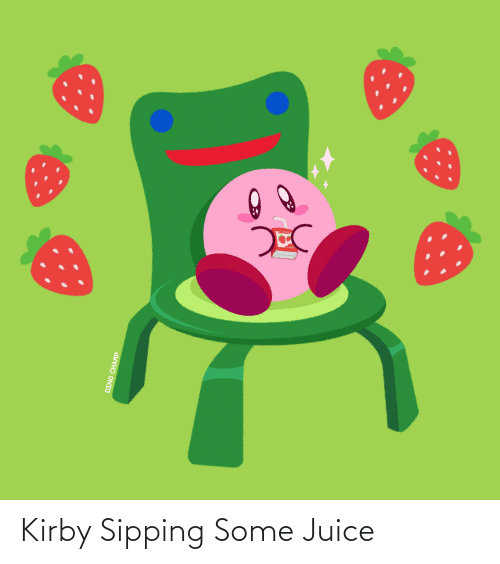 Sipping: Kirby Sipping Some Juice