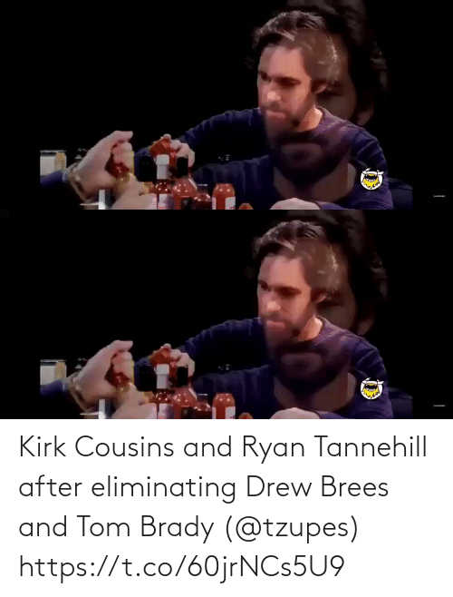 kirk: Kirk Cousins and Ryan Tannehill after eliminating Drew Brees and Tom Brady (@tzupes) https://t.co/60jrNCs5U9