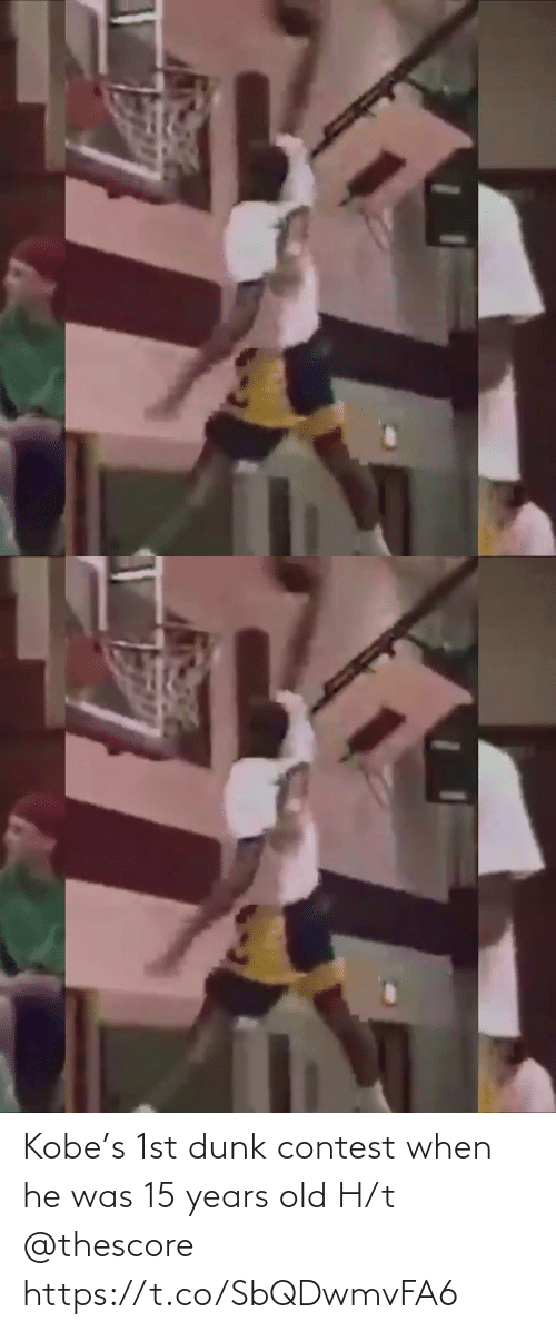 Old: Kobe's 1st dunk contest when he was 15 years old H/t @thescore https://t.co/SbQDwmvFA6