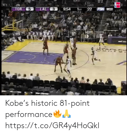 Performance: Kobe's historic 81-point performance🔥🙏 https://t.co/GR4y4HoQkI