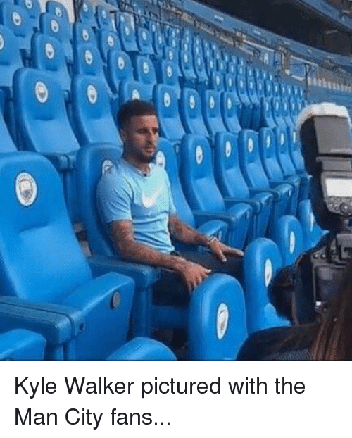 Kylee: Kyle Walker pictured with the Man City fans...