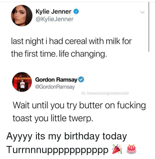Kylie Jenner Last Night I Had Cereal With Milk For The First Time