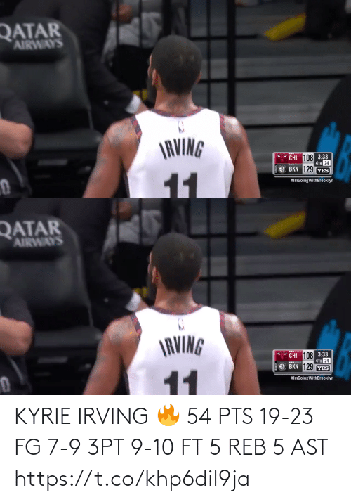 ast: KYRIE IRVING 🔥  54 PTS 19-23 FG 7-9 3PT 9-10 FT 5 REB 5 AST  https://t.co/khp6diI9ja