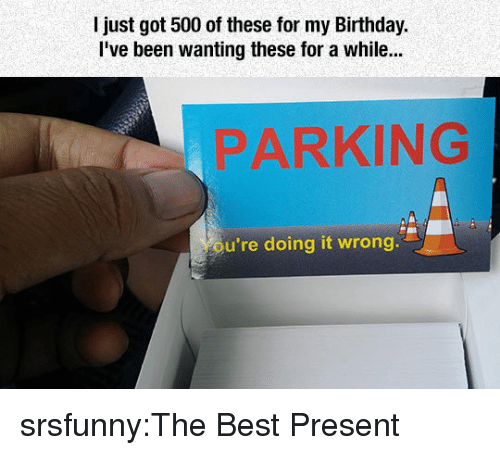 Tumblr, Best, and Blog: l just got 500 of these for my Bithday.  Ive been wanting these for a while...  PARKING  u're doing it wrong srsfunny:The Best Present