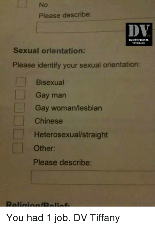 What is your sexual orientation chinese