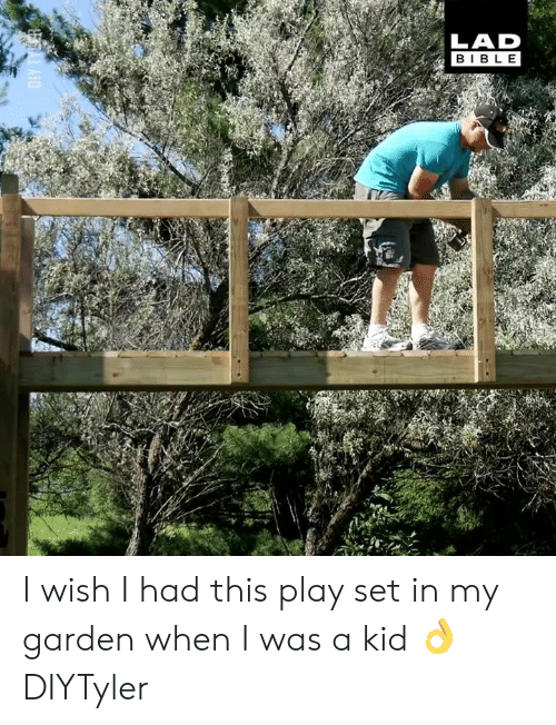 Dank, 🤖, and Play: LAD  BIBL E I wish I had this play set in my garden when I was a kid 👌  DIYTyler