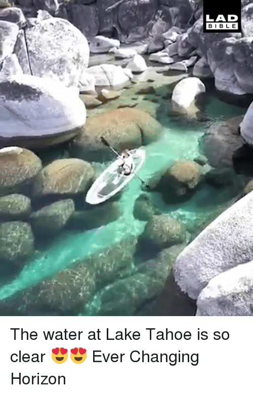 Dank, Bible, and Water: LAD  BIBLE The water at Lake Tahoe is so clear 😍😍  Ever Changing Horizon