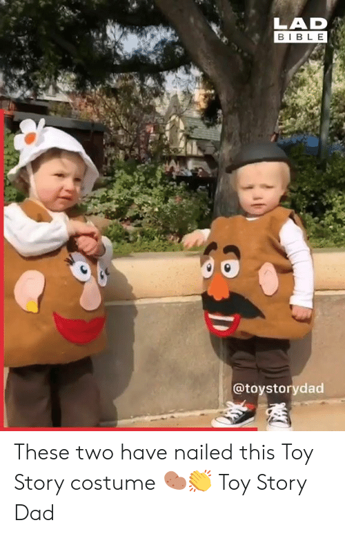 Dad, Dank, and Toy Story: LAD  BIBLE  @toystorydad These two have nailed this Toy Story costume 🥔👏  Toy Story Dad