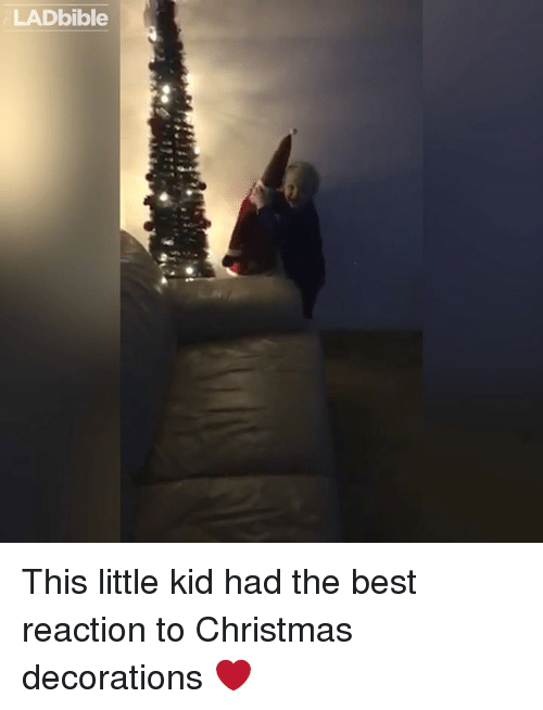Dank, Decoration, and 🤖: LADbible This little kid had the best reaction to Christmas decorations ❤️