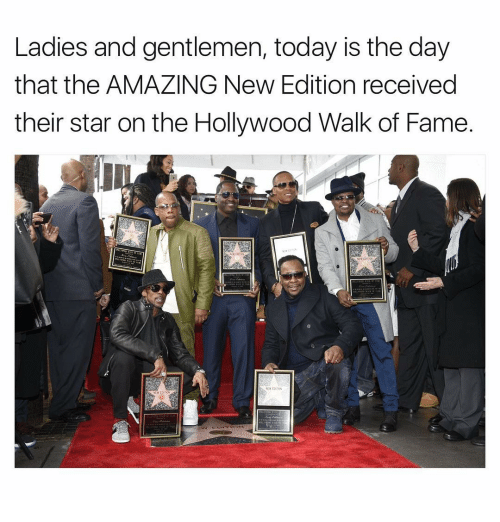 new edition: Ladies and gentlemen, today is the day  that the AMAZING New Edition received  their star on the Hollywood Walk of Fame