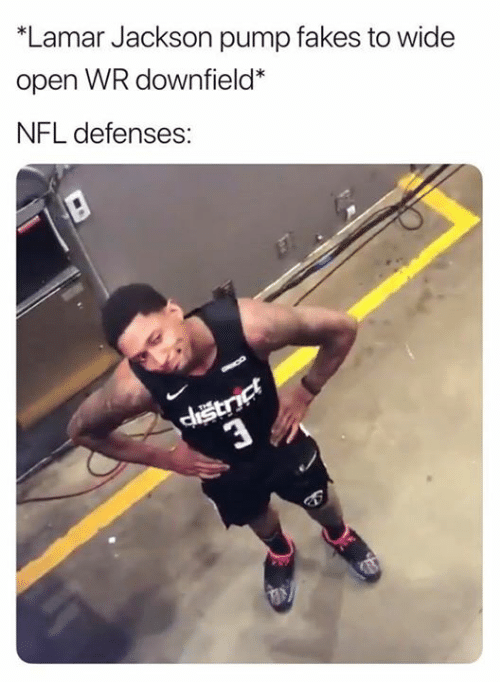 Defenses: *Lamar Jackson pump fakes to wide  open WR downfield*  NFL defenses: