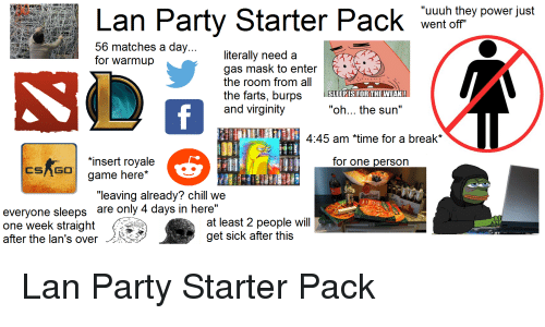 By a starter Tricked party