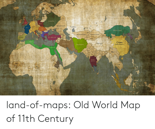 Old: land-of-maps:  Old World Map of 11th Century