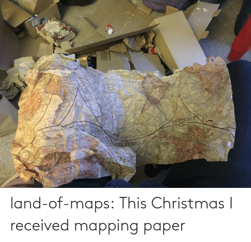 this: land-of-maps:  This Christmas I received mapping paper