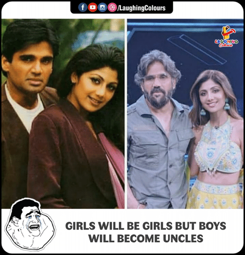 Girls, Girls Will Be Girls, and Indianpeoplefacebook: LAUGHING  GIRLS WILL BE GIRLS BUT BoYs  WILL BECOME UNCLES