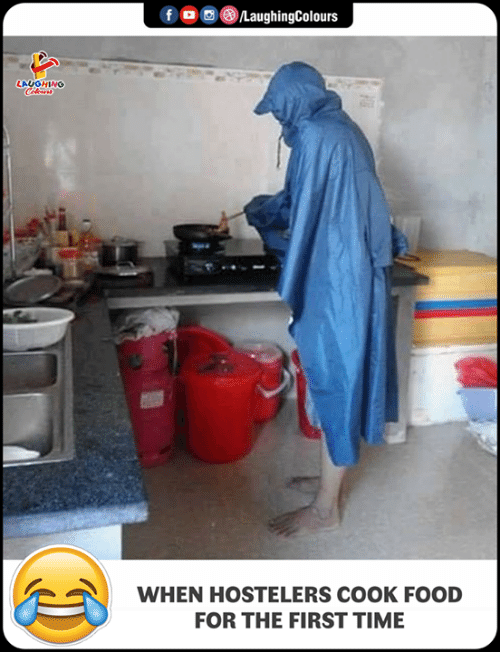 Food, Time, and Indianpeoplefacebook: LAUGHING  WHEN HOSTELERS COOK FOOD  FOR THE FIRST TIME
