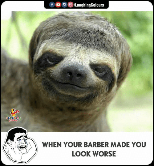 Barber, Indianpeoplefacebook, and You: LAUGHING  WHEN YOUR BARBER MADE YOU  LOOK WORSE