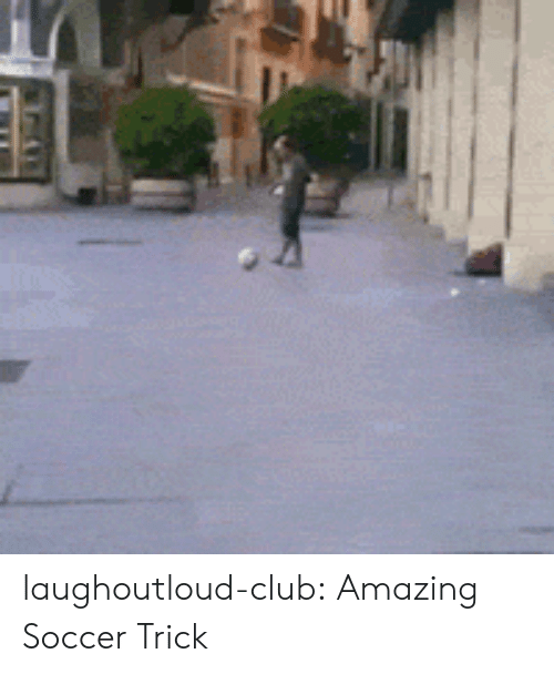 Club, Soccer, and Tumblr: laughoutloud-club:  Amazing Soccer Trick