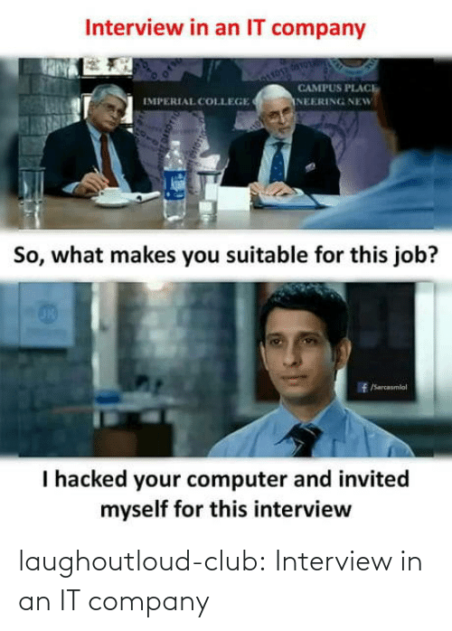 company: laughoutloud-club:  Interview in an IT company