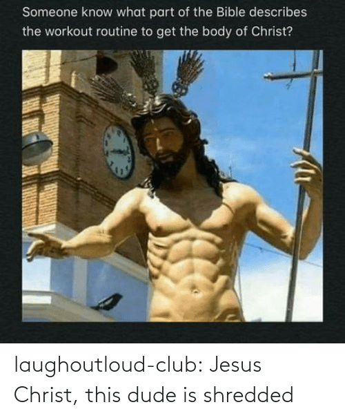This Dude: laughoutloud-club:  Jesus Christ, this dude is shredded