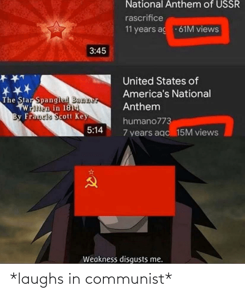 Laughs In: *laughs in communist*
