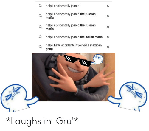 Funny, Gru, and Laughs: *Laughs in 'Gru'*