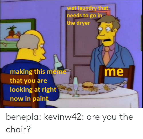 Laundry, Meme, and Target: laundry that  wet  needs to go in  the dryer  me  making this meme  that you are  looking at right  now in pain benepla:  kevinw42: are you the chair?