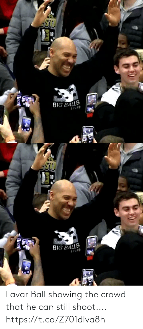 Https: Lavar Ball showing the crowd that he can still shoot.... https://t.co/Z701dlva8h