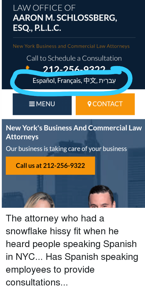 the law office of aaron m  schlossberg p c