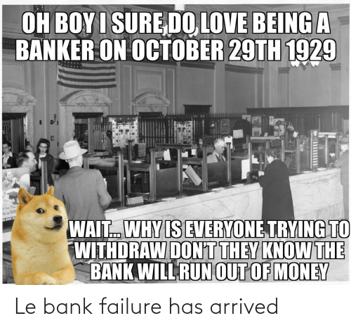 Failure: Le bank failure has arrived