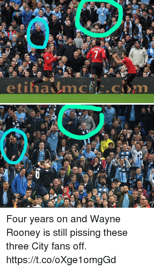 Memes, 🤖, and Wayne Rooney: LE  etiha mc.cm Four years on and Wayne Rooney is still pissing these three City fans off. https://t.co/oXge1omgGd