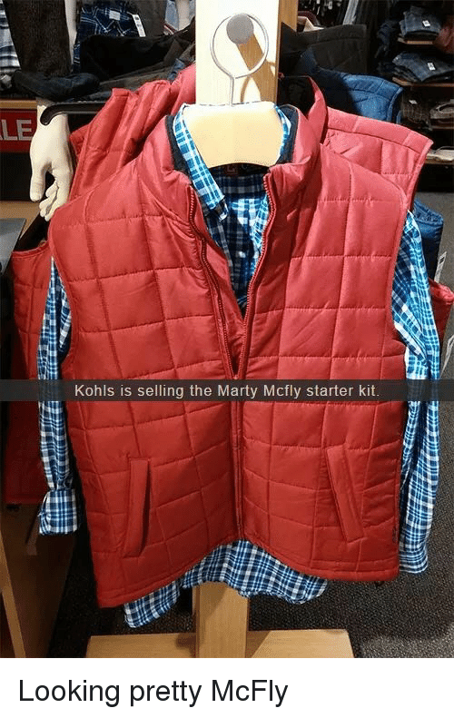 Starter Kit: LE  Kohls is selling the Marty Mcfly starter kit Looking pretty McFly