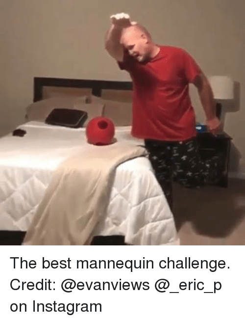 Best Mannequin Challenge: Le, The best mannequin challenge.  Credit: @evanviews @_eric_p on Instagram