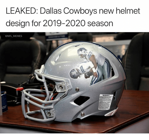 Dallas Cowboys: LEAKED: Dallas Cowboys new helmet  design for 2019-2020 season  @NFL MEMES  WARNING