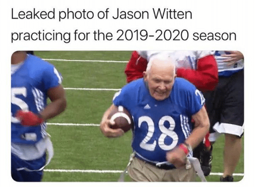 Jason, Jason Witten, and Photo: Leaked photo of Jason Witten  practicing for the 2019-2020 season  28