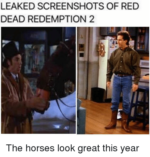 Horses, Horse, and Reds: LEAKED SCREENSHOTS OF RED  DEAD REDEMPTION 2 The horses look great this year