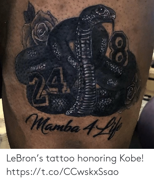 Tattoo: LeBron's tattoo honoring Kobe! https://t.co/CCwskxSsao