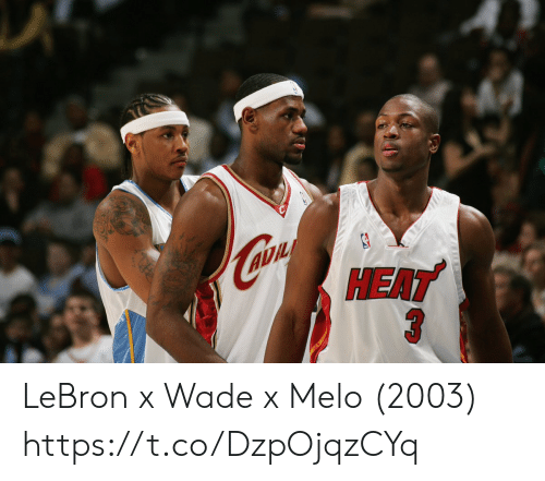 Memes, Lebron, and 🤖: LeBron x Wade x Melo (2003) https://t.co/DzpOjqzCYq