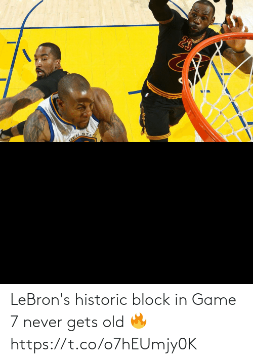 Old: LeBron's historic block in Game 7 never gets old 🔥 https://t.co/o7hEUmjy0K