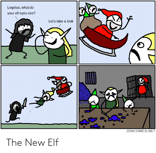 Elf: Legolas, what do  your elf eyes see?  Let's take a look  JONCOMICS.NET The New Elf