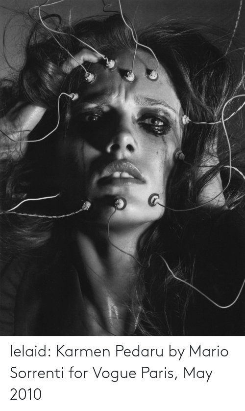 may: lelaid: Karmen Pedaru by Mario Sorrenti for Vogue Paris, May 2010