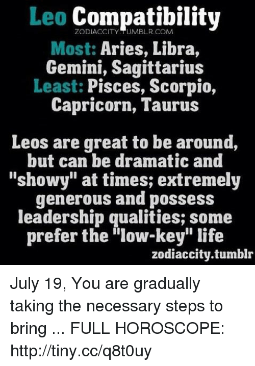 What are leos most compatible with